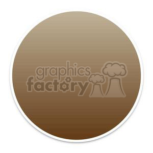 brown circle button clipart. Commercial use image # 381607