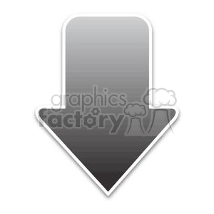 black download arrow clipart. Royalty-free image # 381612
