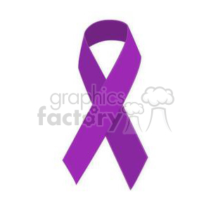 purple support ribbon clipart. Royalty-free image # 381627