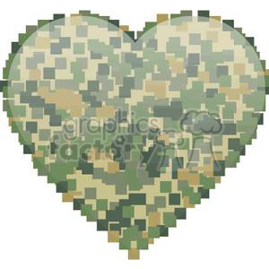 heart hearts Valentine Valentines love relationship relationships vector cartoon camo digital camouflage military RG