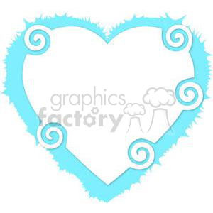 heart hearts Valentine Valentines love relationship relationships vector cartoon twirled twirl blue