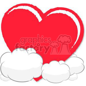 heart hearts Valentine Valentines love relationship relationships vector cartoon clouds dream