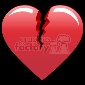 broken heart clipart. Royalty-free image # 381687