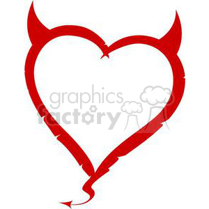 red devil heart clipart. Commercial use image # 381692