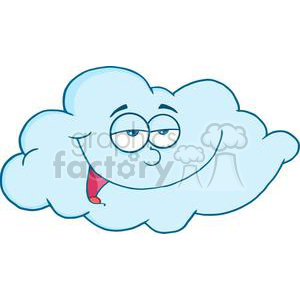 4071-Happy-Cloud-Mascot-Cartoon-Character clipart. Commercial use image # 381964