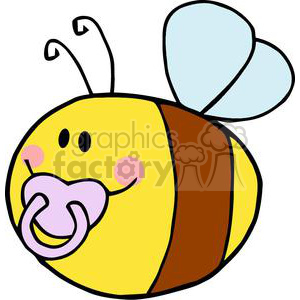 cartoon funny bee bees summer spring baby cute