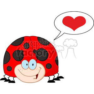 4138-LadyBird-Cartoon-Character-With-Speech-Bubble clipart. Royalty-free image # 382009
