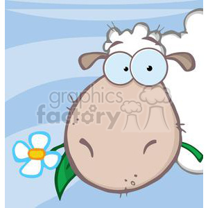 4132-Sheep-Head-Cartoon-Character clipart. Royalty-free image # 382014