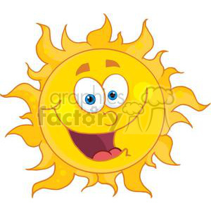 happy sun with big smile