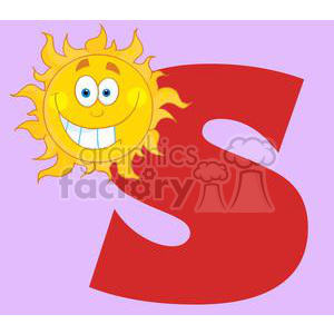 4050-Happy-Smiling-Sun-With-Letters-S clipart. Royalty-free image # 382059
