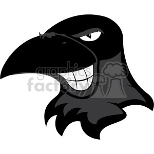 raven mascot showing teeth clipart. Royalty-free image # 384777