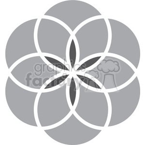 flower symbol 005 clipart. Commercial use image # 384787