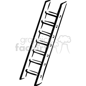 black and white ladder clipart. Commercial use image # 384919