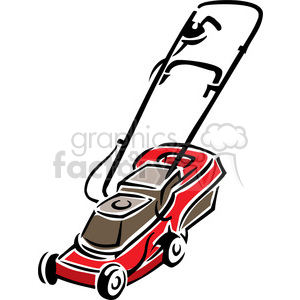 red push mower