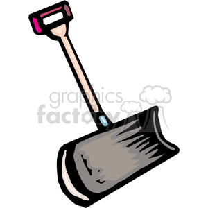 snow shovel clipart. Royalty-free image # 385039