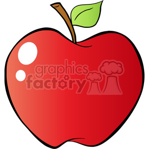 12927 RF Clipart Illustration Red Apple In Gradient clipart. Commercial use image # 385059