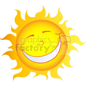 12903 RF Clipart Illustration Happy Smiling Sun Cartoon Character clipart. Royalty-free image # 385069
