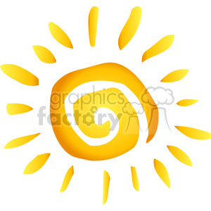 12886 RF Clipart Illustration Summer Hot Abstract Sun clipart. Royalty-free image # 385099