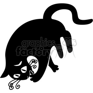 vector clip art illustration of black cat 042 clipart. Royalty-free image # 385329