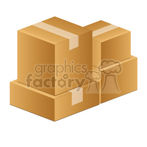 moving boxes clipart. Royalty-free image # 385529