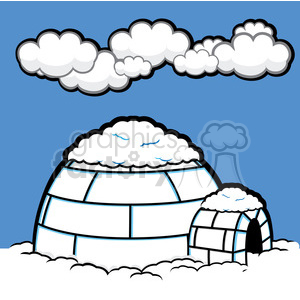 vector illustrations designs igloo ice Alaska RG