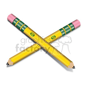vector illustrations designs pencil RG two supplies school education writing drawing