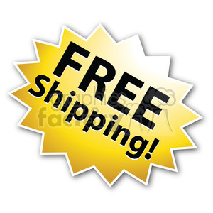 free shipping star burst icon right clipart. Royalty-free image # 385599