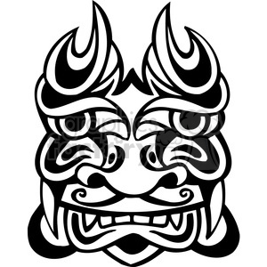 ancient tiki face masks clip art 039 clipart. Royalty-free image # 385809