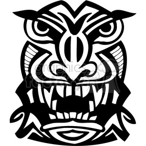 ancient tiki face masks clip art 036 clipart. Royalty-free image # 385816