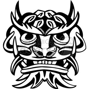 ancient tiki face masks clip art 032