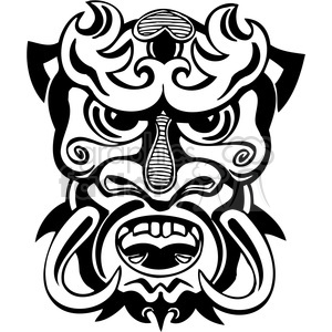 ancient tiki face masks clip art 003 clipart. Royalty-free image # 385834