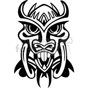 ancient tiki face masks clip art 031 clipart. Royalty-free image # 385843