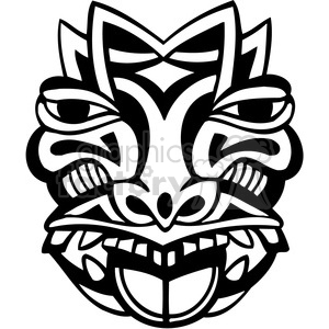 ancient tiki face masks clip art 038 clipart. Royalty-free image # 385853