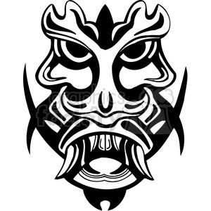 ancient tiki face masks clip art 029 clipart. Royalty-free image # 385862