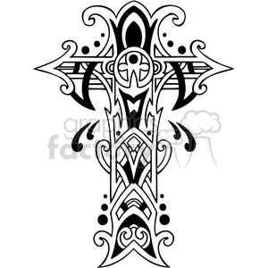 stylish cross design clipart. Commercial use image # 385870