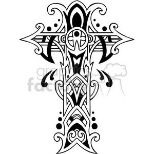 cross crosses religion religious black+white tattoo faith Christian Catholic vinyl-ready