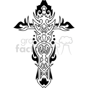 cross clip art tattoo illustrations 023 clipart. Commercial use image # 385880