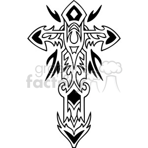 cross clip art tattoo illustrations 041 clipart. Royalty-free image # 385900