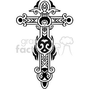 cross clip art tattoo illustrations 049 clipart. Commercial use image # 385910
