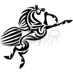 jumping horse clipart. Royalty-free image # 385952