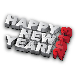Happy New Year 2013 clipart. Commercial use image # 385992