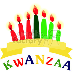 Kwanzaa candles clipart. Commercial use image # 145008