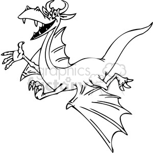 funny cartoon dragons 018 clipart. Royalty-free image # 385994