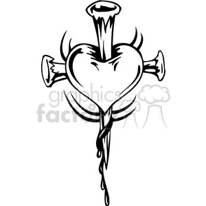christian religion heart cross 089 clipart. Commercial use image # 386024