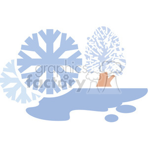 eco environment illustration logo symbols elements earth winter snow weather