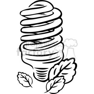 eco CFL bulb 004 clipart. Commercial use image # 386154