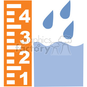 eco environment illustration logo symbols elements earth floodmeasure storm weather disaster FEMA floods measuring rain storm hurricane