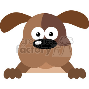 5169-Cartoon-Dog-Over-A-Sign-Royalty-Free-RF-Clipart-Image clipart. Royalty-free image # 386253