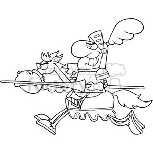 5134-Knight-Riding-Horse-Royalty-Free-RF-Clipart-Image clipart. Royalty-free image # 386343