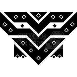 tribal masks vinyl ready art 012 clipart. Commercial use image # 386403